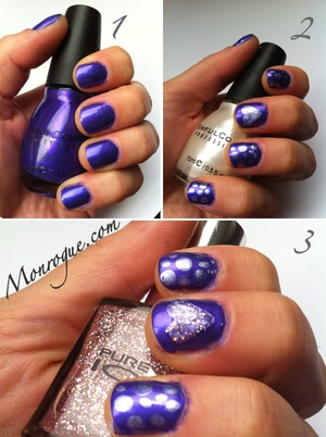 Another one of my firsts! :) http://monrogue.com/purple-nails-nail-art-with-purple-nail-polish/