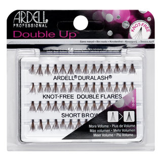 Double Up Individuals Knot-Free Lashes Short Brown