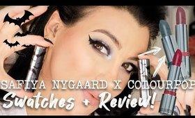 Colourpop SAFIYA NYGAARD FRANKENLIPSTICKS!   Swatches + Review