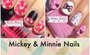 Mickey and Minnie Mouse Nails by The Crafty Ninja