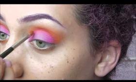 Sunset (ish) Eyeshadow Tutorial