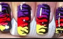 Evening on Fire-Nailart Tutorial.... :-)