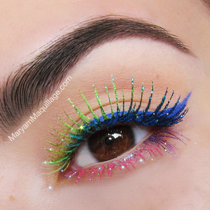 HOW-TO on my blog: http://www.maryammaquillage.com/2013/06/celebrate-pride-in-happy-rainbows.html