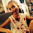 My little sis zombie make-up!