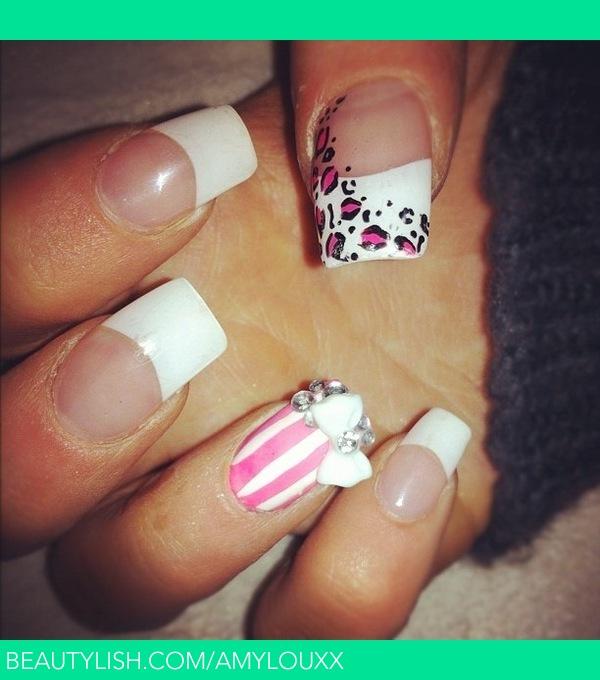 Pink Mix And Match Acrylic Nails Amy Hs Amylouxx Photo