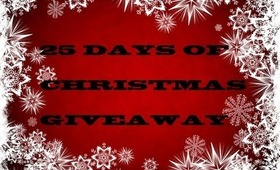 25 DAYS TILL CHRISTMAS GIVEAWAY