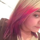 Pink and purple dip dye