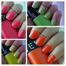 Swatches of the Sephora Paint Rio in Neon Collection