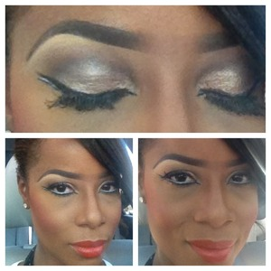 Double lines eyes with white liner