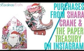 Purchases from Shara Crane and The Paper Treasury on Instagram! Layered Christmas Embellishment