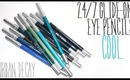 Review & Swatches: URBAN DECAY 24/7 Glide-On Eye Pencils Cools