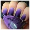 purple ombré matte nails <3