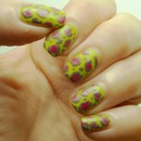 Abstract Leopard Nails