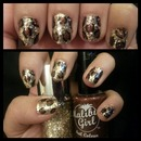 Gold Glitter And Leopard Print