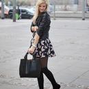 Lapel Slim Fit Black Leather Jacket