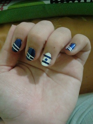 Israel independence day nails! my instagram: melywerner