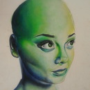 Bald Self portrait (: