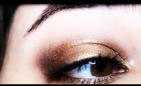Smokey Eyes: Gold and Browns
