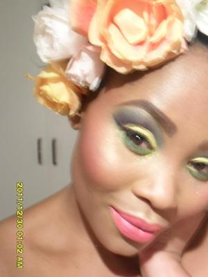 Elements challenge- Earth Nature Inspired using SLEEK and Barry M  on the Eyes, MAC Face and Lips
