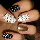 Polka dots with a touch of gold!