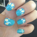 Flower detailed nails