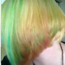 Pink & Green Hair