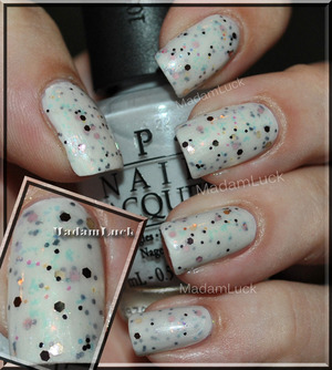 OPI -Moon over Mumbai,finger paints-Flashy and wet n wild -jewelry heist