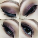 Plum smokey makeup