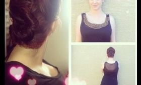 "Get Pretty For ""Valentines Day"" Romantic UpDo (Great for short Hair)"