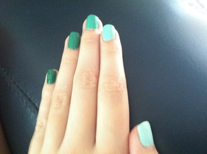 Another shot of the ombre nails.