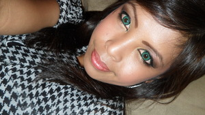 another work day make-up...with my green contact lenses!!!