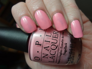 OPI Nicki Minaj's Pink Friday! Perfect pink creme! Sorry about the few little bald spots I've got going on here.
