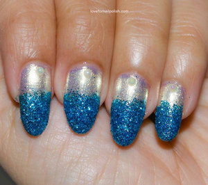 For more details visit http://lovefornailpolish.com/blue-glitter-nail-tips-born-pretty-store-review