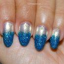Blue Glitter Nail Tips BornPrettyStore