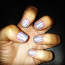 Pinstripes with glitter fade