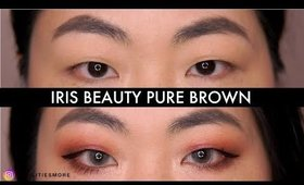 Iris beauty colored contact lenses: ESSENTIALS COLLECTION in PURE BROWN on black asian eyes