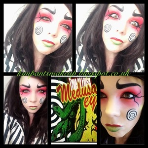 Makeup for an Instagram contest. Had to be inspired by the box (bottom middle picture)   @kimpants on Instagram and Twitter Http://kimpantsmakeup.blogspot.co.uk Http://www.facebook.com/kimpantsmakeup