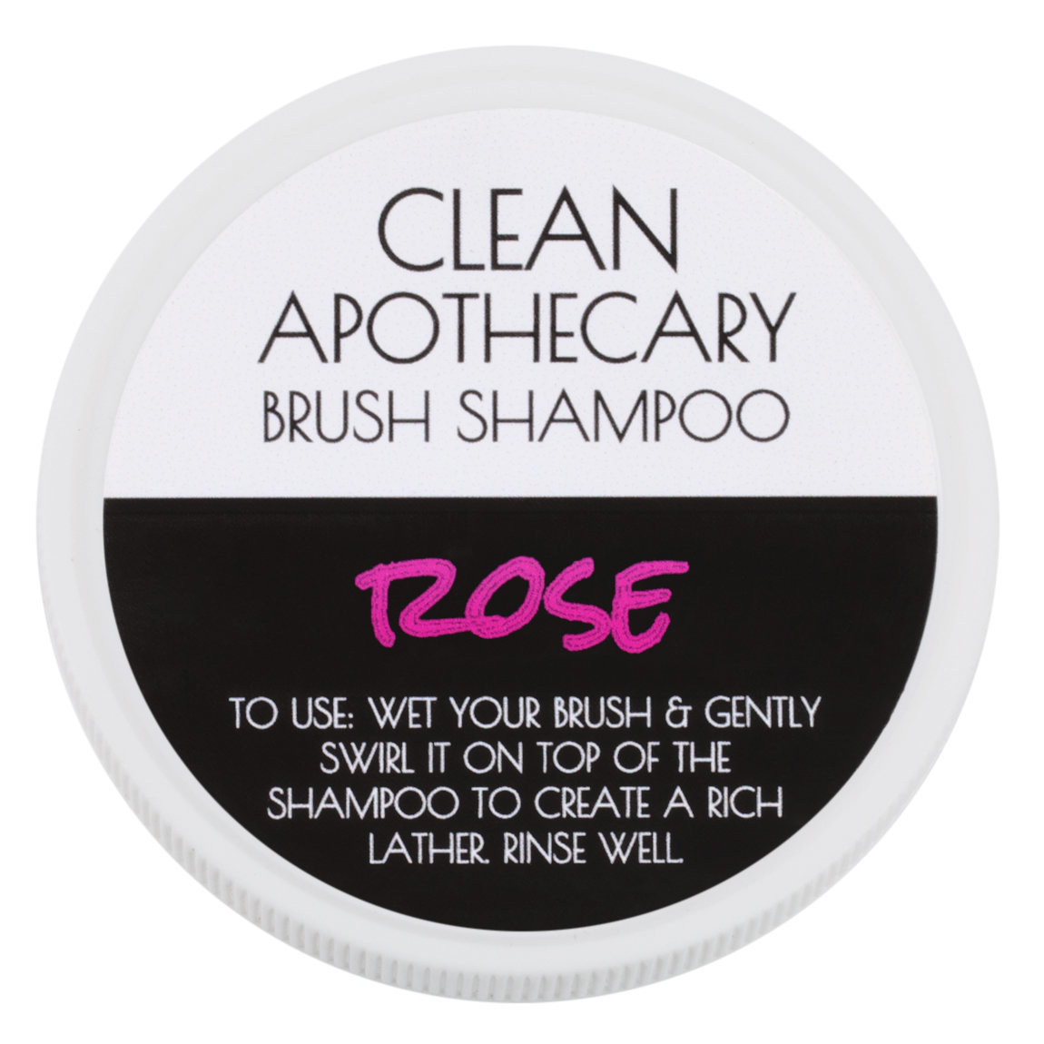 Clean Apothecary Brush Shampoo Rose product smear.