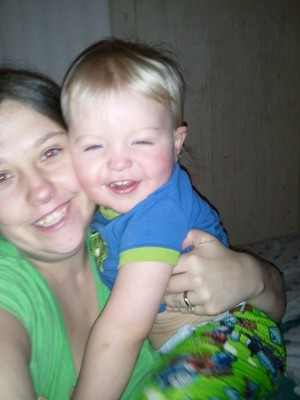 Me and My youngest son Bryce, Hes such a cutie!