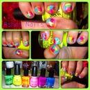 Inspired neon sponging