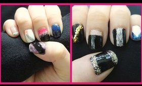 10 easy no tool glitter nail designs for the holidays!