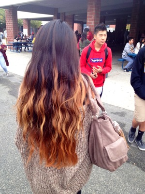 Wavy hair from braiding hair overnight
