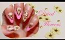 Dried Flowers & Sea Shell Nails