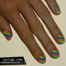 Rainbow Pixel Nails
