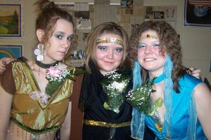 Did All Their Makeup for a Play