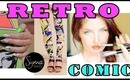 Retro Comic Outfit, Nails & Makeup with Sigma Brushes