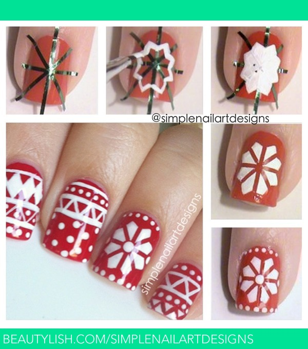 Easy Christmas Nail Art: Holiday Sweater Nail Art Tutorial
