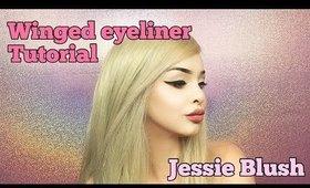 Winged Eyeliner Tutorial By Jessie Blush