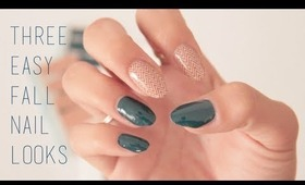 3 Easy Fall Nail Looks (in under 1 minute)