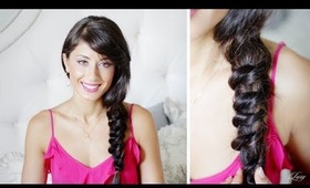 Knotted Messy Side Braid